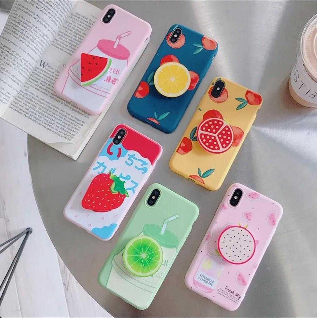 Po Iphone Fruit Cases Pop Sockets Mobile Phones Tablets Mobile Tablet Accessories Cases Sleeves On Carousell
