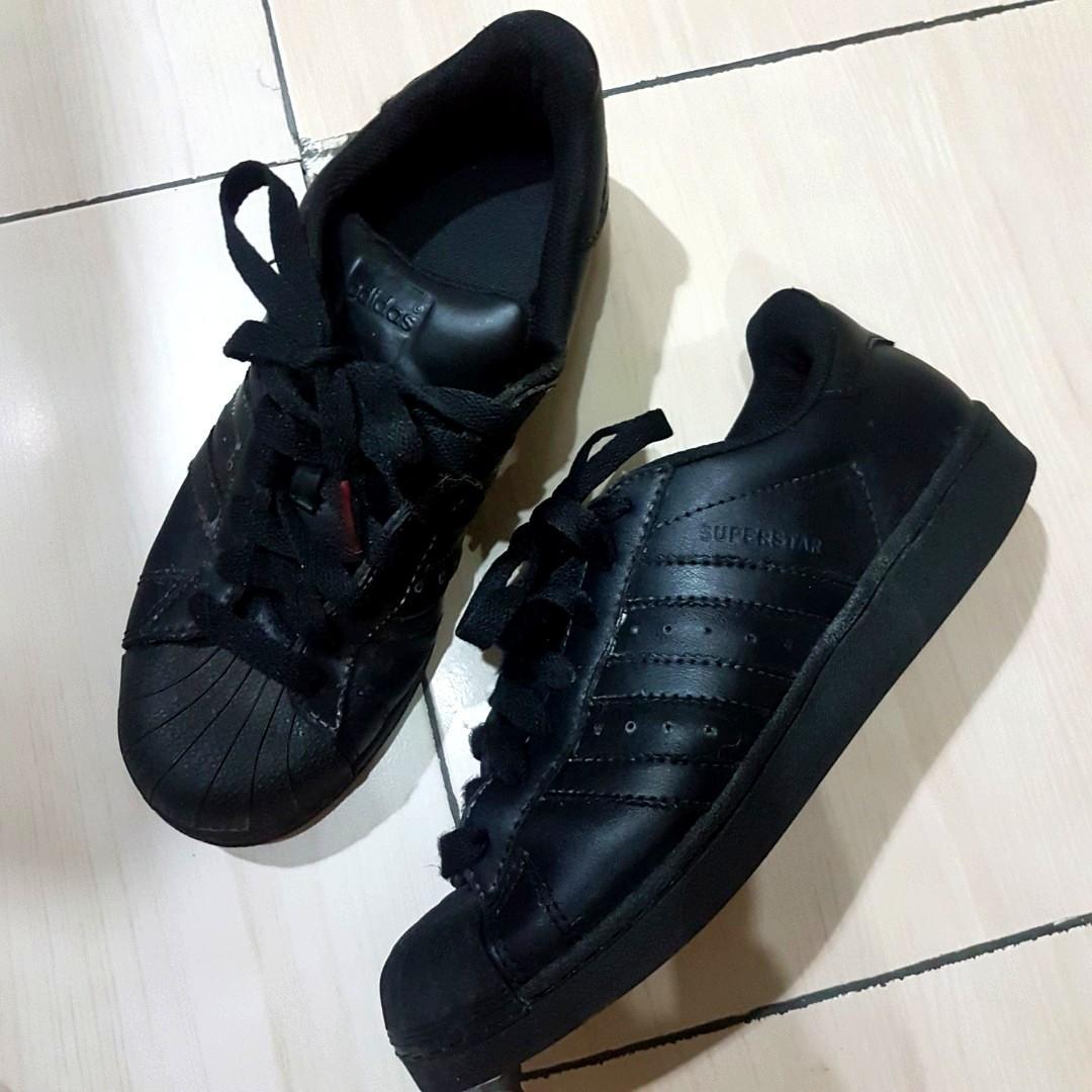 Original Sepatu Adidas Superstar Foundation Pack Black White Gold