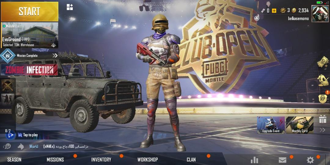 Pubg mobile Korean Version account legendary skins
