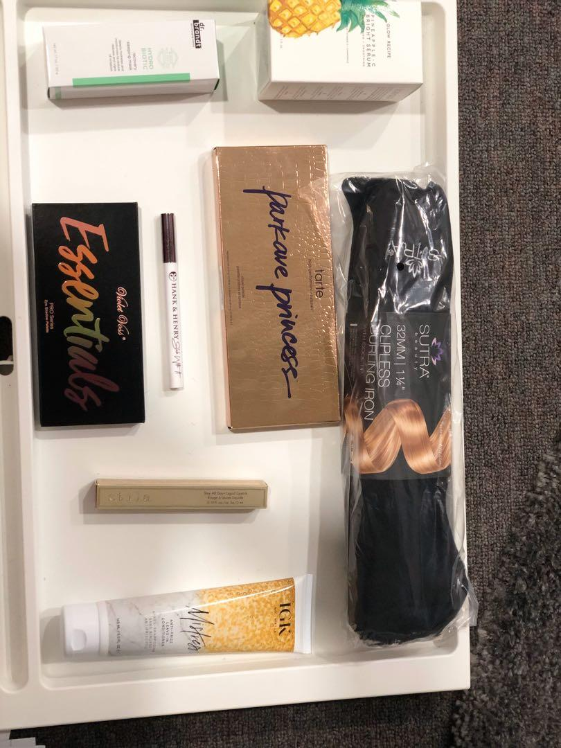 Selling Brand new make up , skin care and hair curler