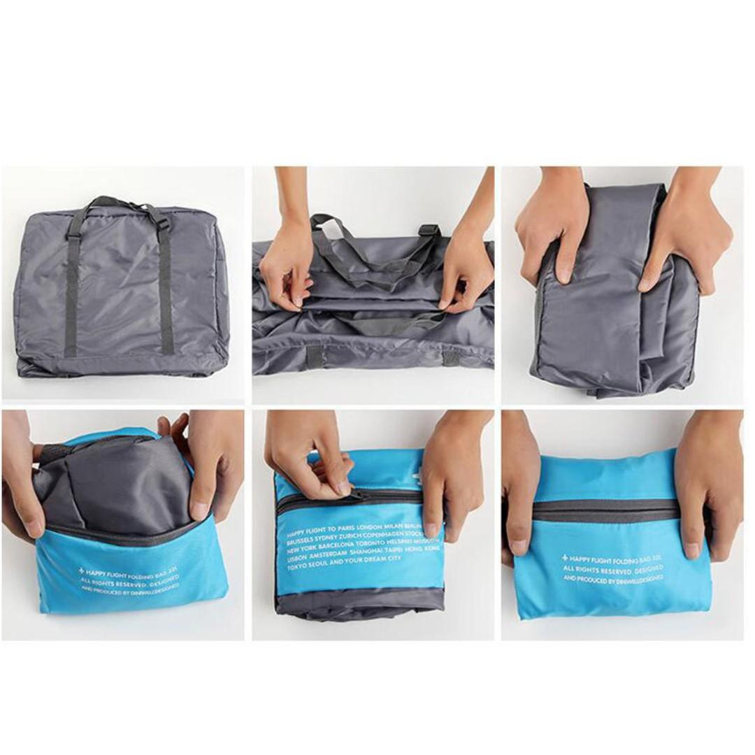 ST007 Water Resistant Nylon Foldable Travel Bag (Local Seller Easy Foldable Big Space)