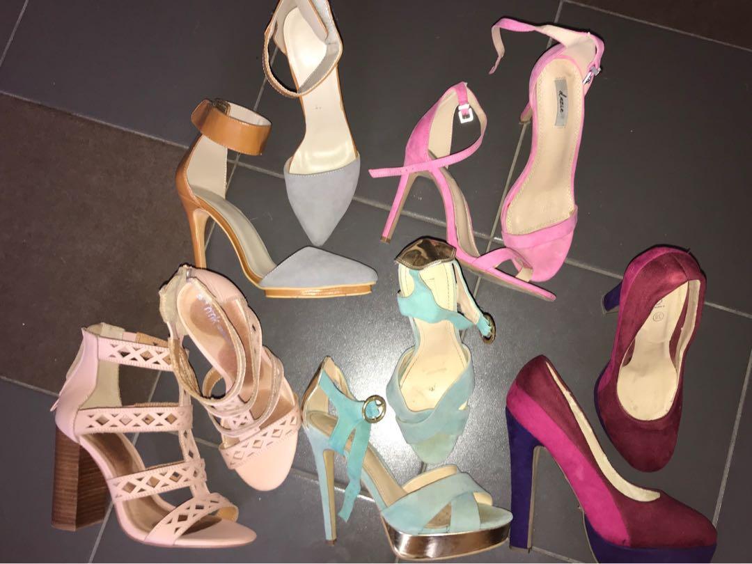 SZ 7-8 heels for sale - designer to affordable brands