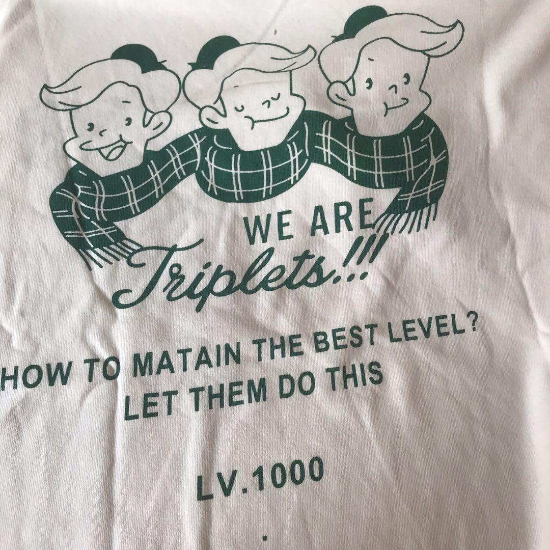 thriplets white korean oversized shirt