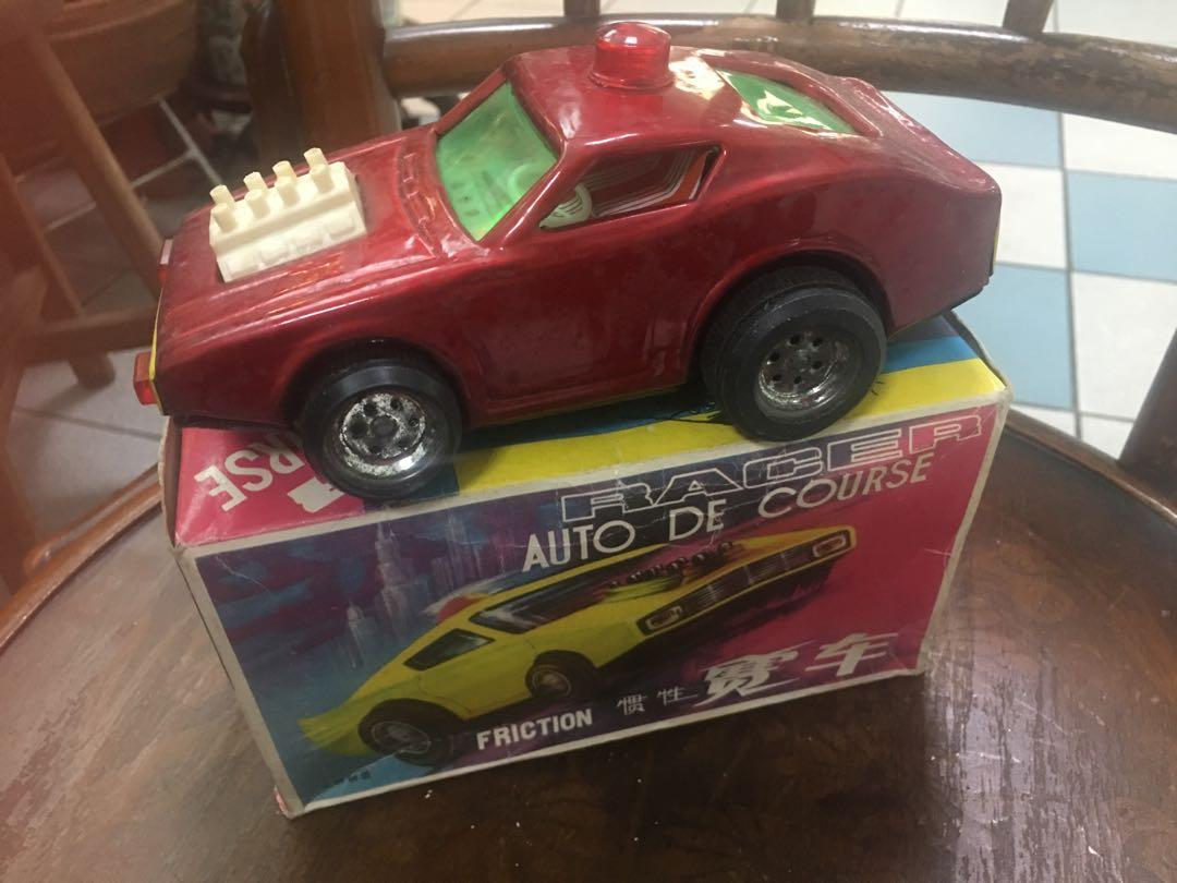 Vintage tin toy racer