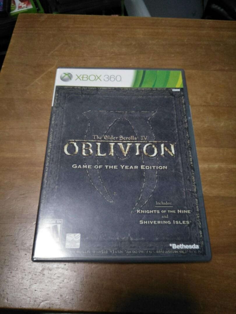 Xbox 360 oblivion (NTSC, PAL region locked)