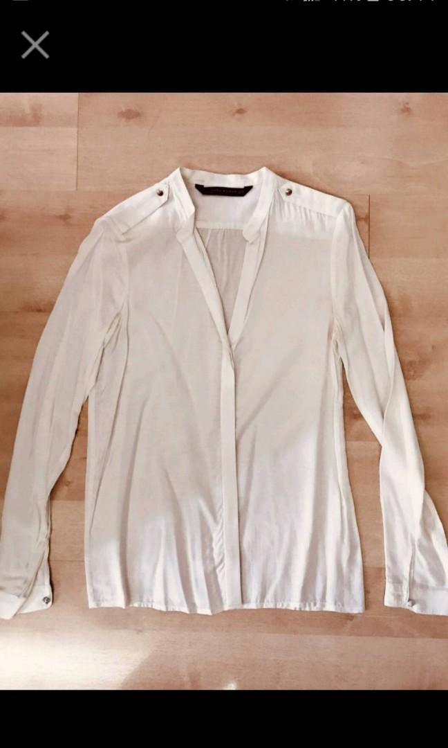 Zara天絲棉襯衫XS(喜歡可議價)