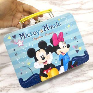 Disney Mickey Minnie Tin Bag Box