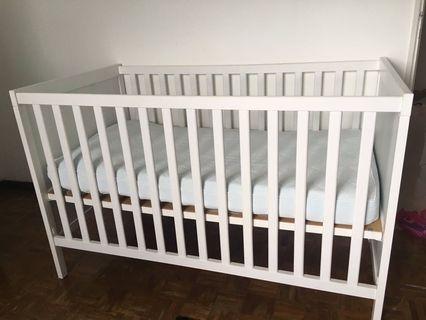Ikea Sundvik Baby Cot with Ikea Matress