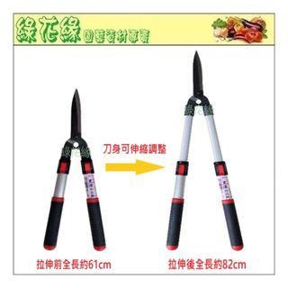 {綠花緣} 伸縮型鋁管樹剪 - 全長61~82cm、刃長18cm