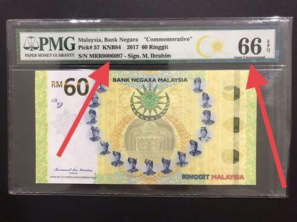 PMG66 MALAYSIA RM60 MRR0006097