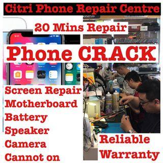 iPhone Screen Crack Repair, Samsung Phone LCD Repair