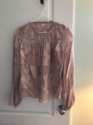 "Aritzia ""Lourdes"" blouse size Small"