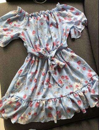 Babydoll off shoulder kimono set with pant