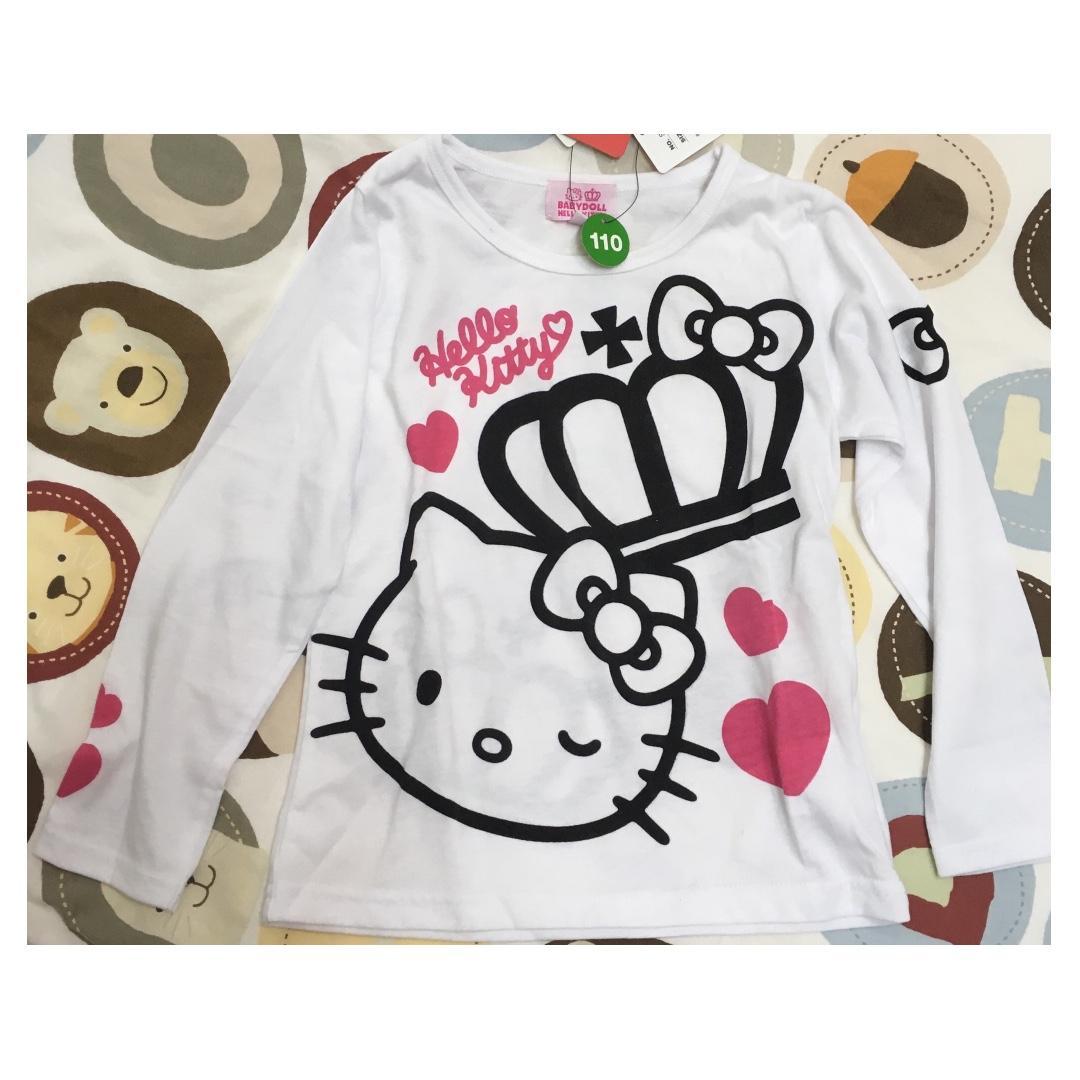 100%正貨全新baby doll x hello kitty 女童長袖T恤