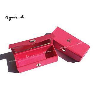 【全新】agnes b.多用途小盒/唇彩口紅盒/印章盒/小b.附鏡盒