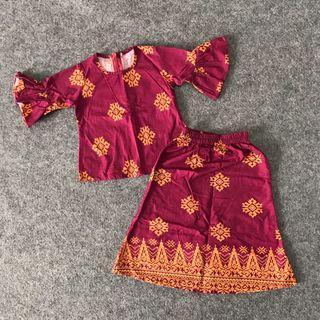 1y + Batik Kurung Set