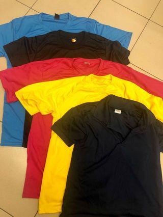 Plain Colour T-Shirt and Polo-T