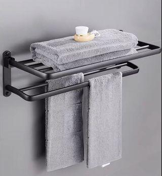 black towel clothes double layer
