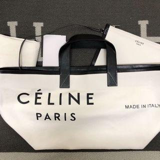 <二手良品> Celine made in tote 帆布袋 購物袋 小號