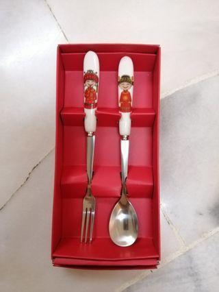 Mini Folk & Spoon Set