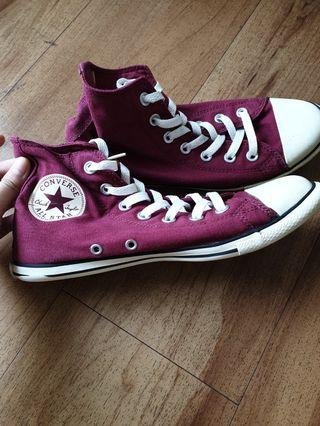 Converse sneakers high top maroon