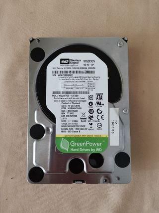 "2TB WD GREEN HDD INTERNAL DESKTOP HDD SATA 3.5"" 2000GB 7200 RPM WD20EVDS"