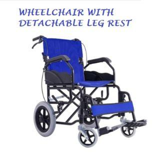 WHEEL CHAIR FOLDABLE BACK REST, REMOVABLE FOOT REST