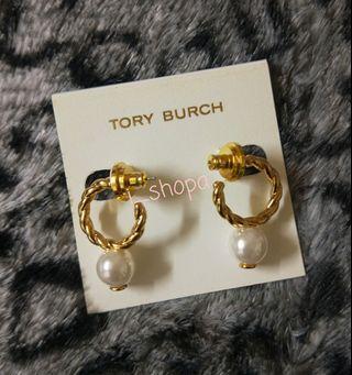 Tory Burch TB 繩索 rope 系列 垂吊珍珠耳環