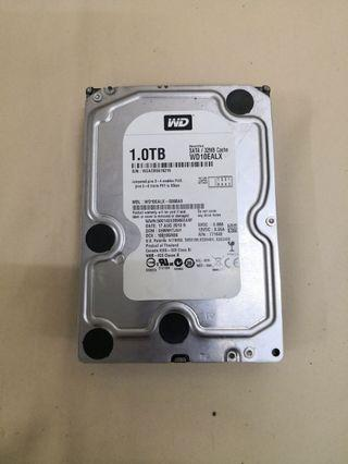 "WD 1TB Internal HDD 7200 RPM Sata 3.5"" WD10EALX Recertified"