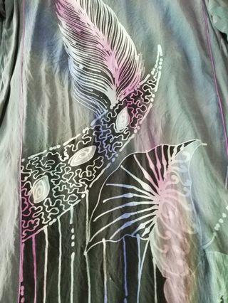 Baju kurung batik sutera