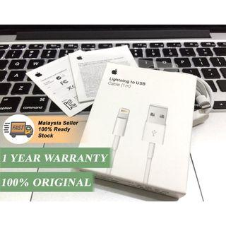 (1 Year Warranty) Original Iphone Cable Apple Lighting To USB For Iphone Ipad Ipod