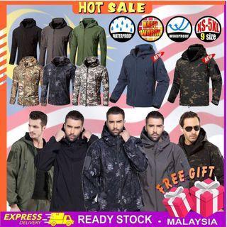 Shark Skin Waterproof Jacket Soft Shell Sharkskin Military