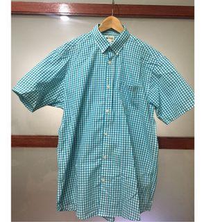 【二手】Haggar Clothing 短袖格紋襯衫