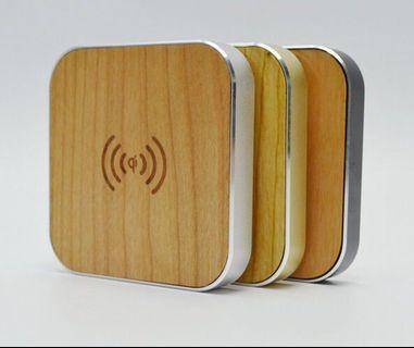 全新 竹木質無線充電器 蘋果安卓通用 無線發射端