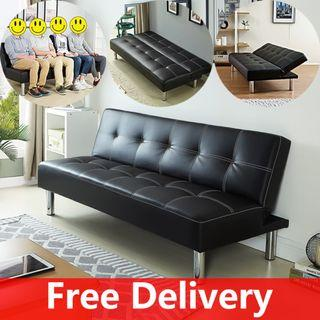 Black Sofa Bed/Living room sofa/PU Leather Sofa Bed/ B01