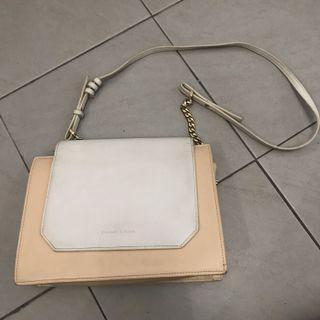 Nude cream & white Charles N Keith Sling Bag
