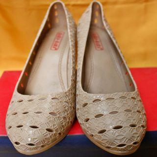 Sepatu Wedges Jelly BARA BARA Pink Pastel 39