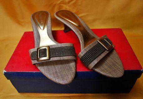 Sandal Heels 3cm Brown Coklat Murmer