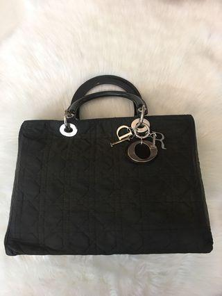 Christian Dior Nylon medium size tote bag