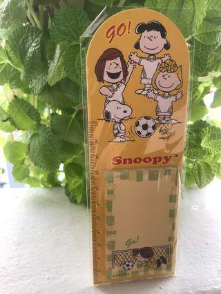 Snoopy Paper Ruler Bookmark with Post-it Pad