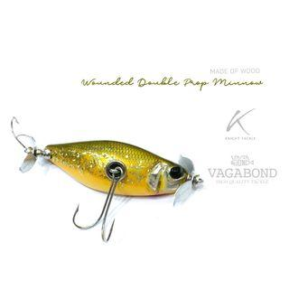 Collector' item! New & Cheap Japanese Vagabond Wounded Double Prop Minnow Lure!
