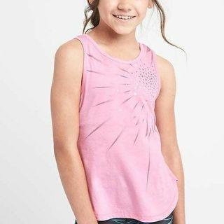 Gapfit 2 in 1 Tank Lighting Pink Girl Tank Tops Anak Perempuan