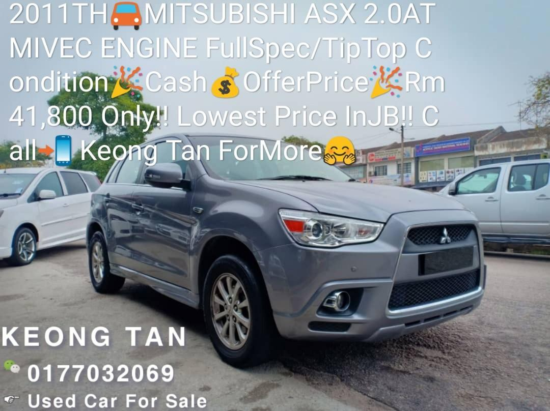 2011TH🚘MITSUBISHI ASX 2.0AT MIVEC ENGINE FullSpec/TipTop Condition🎉Cash💰OfferPrice🎉Rm41,800 Only‼ Lowest Price InJB!! Call📲 Keong Tan ForMore🤗
