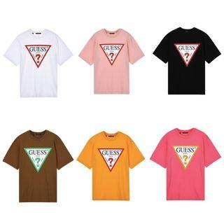Guess Signature Big Logo T Shirt Tee