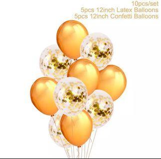 Gold balloon bundle
