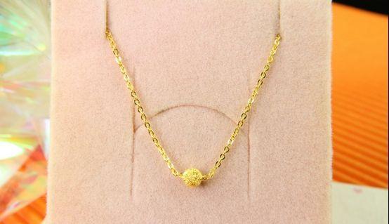 ㊣9999黃金手鍊小珠造型