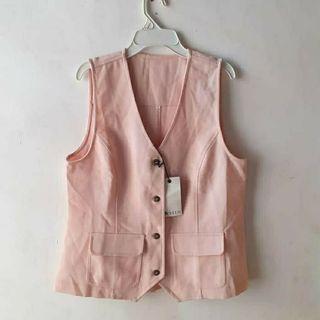 Pink Vest Vest Pink Stylus Womens Rompi pink Kerja Wanita