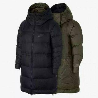 Nike女用防風雙面可穿羽絨長大衣 絕對正品 美國網購買回