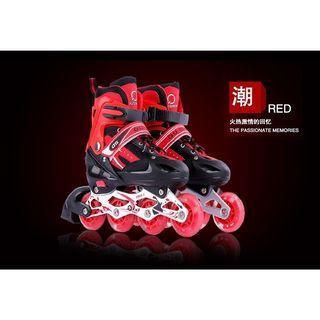 免運費+牛頭護具+直排輪  兒童溜冰鞋 兒童直排輪 阿Q滑輪 兒童節