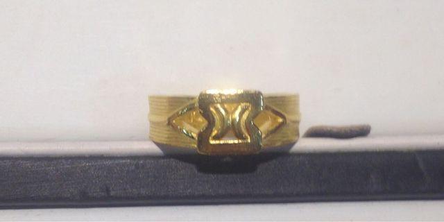 黃金純金9999寬面X造型戒指 時尚好看 pure gold ring